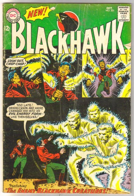 Blackhawk #201 comic book very good 4.0