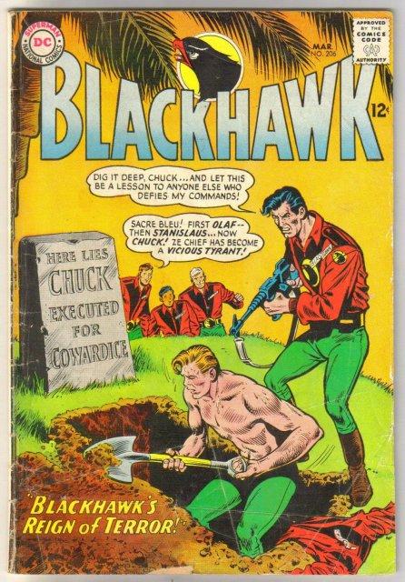 Blackhawk #206 comic book very good 4.0
