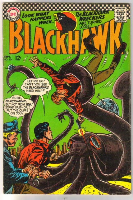 Blackhawk #224 comic book fine 6.0