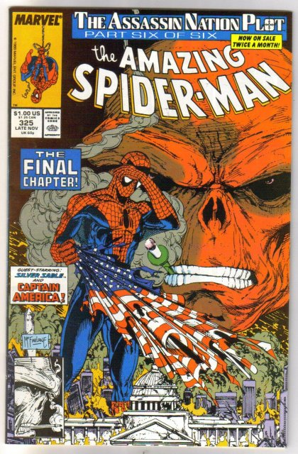Amazing Spider-man #325 comic book near mint 9.4