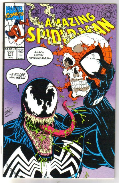 Amazing Spider-man #347 comic book near mint 9.4
