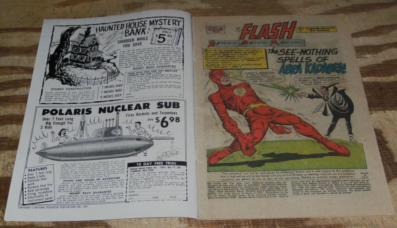 The Flash #170 g/vg 3.0