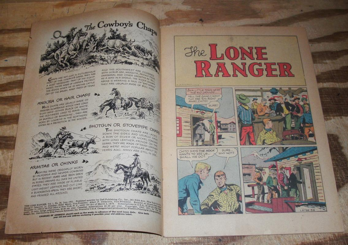 Lone Ranger #36 comic book vg/fn 5.0