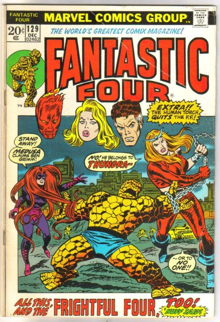 Fantastic Four #129 comic book very good 4.0