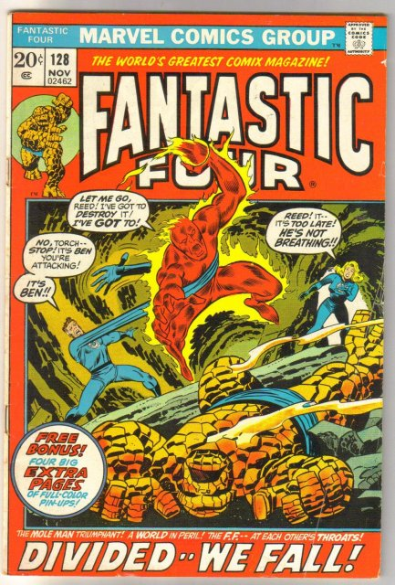 Fantastic Four #128 comic book very good/fine 5.0
