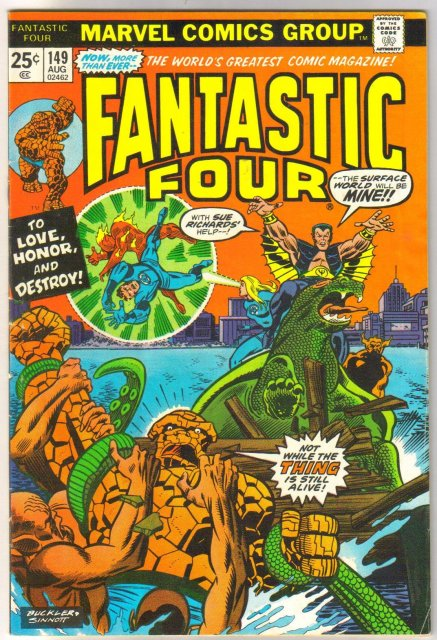 Fantastic Four #149 comic book fine 6.0