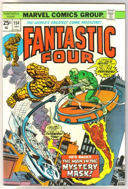 Fantastic Four #154 comic book very fine 8.0