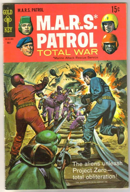 M.A.R.S. Patrol Total War #9 comic book very good/fine 5.0