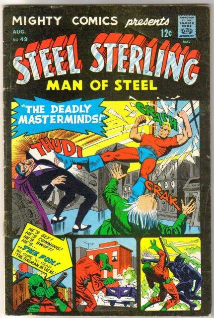 Mighty Comics Presents Steel Sterling Man of Steel #49 comic book very good 4.0