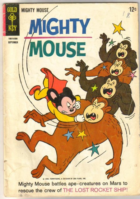 Mighty Mouse #165 comic book very good 4.0
