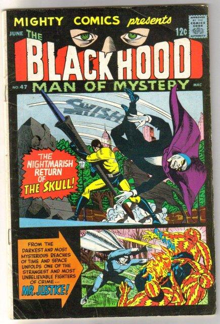 Mighty Comics Presents The Black Hood Man of Mystery #47 comic book very good/fine 5.0