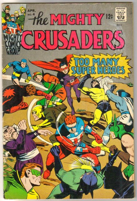 The Mighty Crusaders #4 comic book very good/fine 5.0