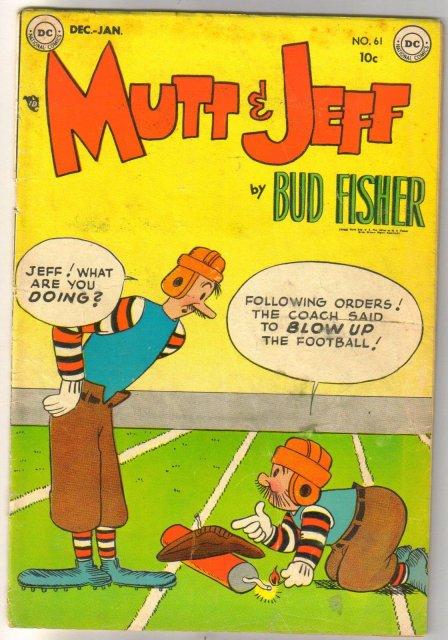 Mutt & Jeff  #61 comic book very good plus 4.5