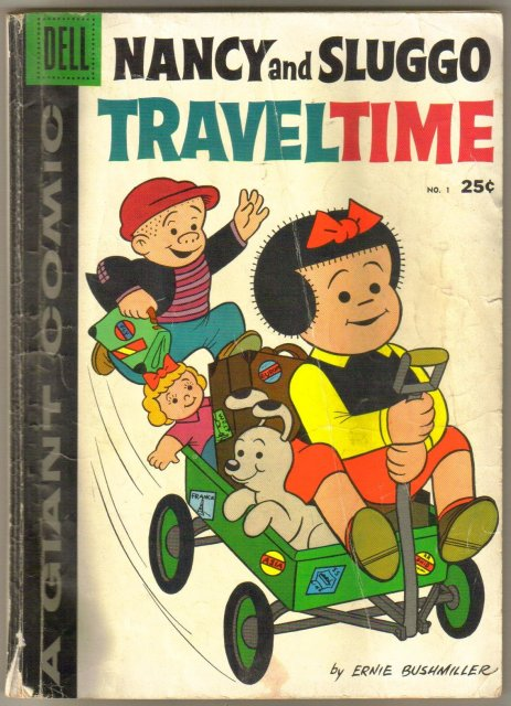 Dell Giant Nancy and Sluggo Traveltime  #1 comic book very good 4.0