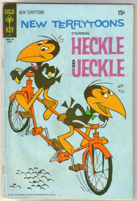 New Terrytoons starring Heckle & Jeckle #12 comic book very good 4.0