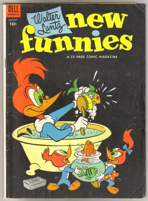 Walter Lantz New Funnies #203 comic book very good 4.0