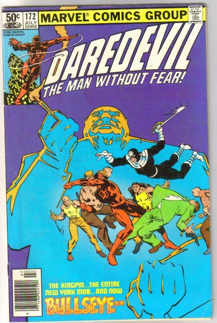 Daredevil #172 comic book very good/fine 5.0