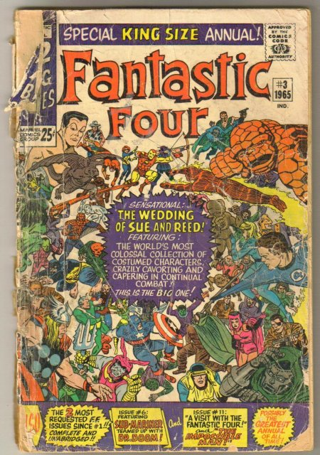 Fantastic Four annual #3 comic book poor 1.0