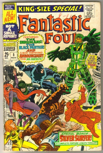 Fantastic Four special #5 comic book very good/fine 5.0