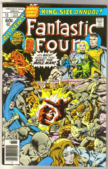 Fantastic Four annual #13 comic book very fine 8.0