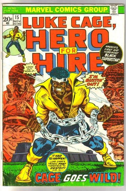 Luke Cage, Hero for Hire #15 comic book fine 6.0