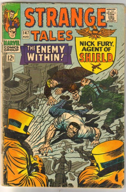 Strange Tales #147 comic book very good 4.0