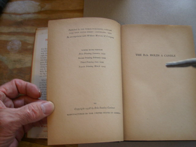 The D.A. Holds a Candle fourth printing 1945