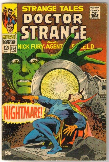 Strange Tales #164 comic book very good 4.0