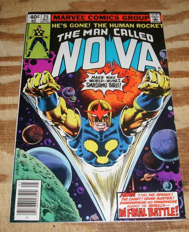 The Man Called Nova #25 very fine/near mint 9.0