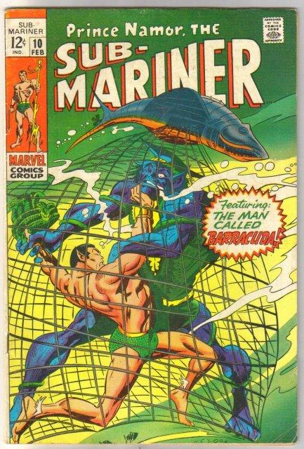 Prince Namor, the Sub-Mariner #10 comic book very good/fine 5.0