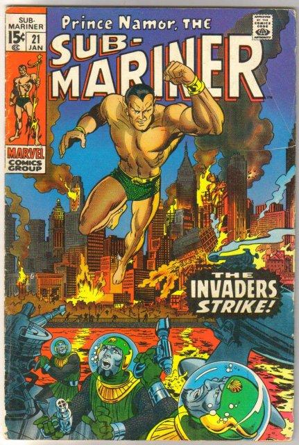 Prince Namor, the Sub-Mariner #21 comic book very good/fine 5.0