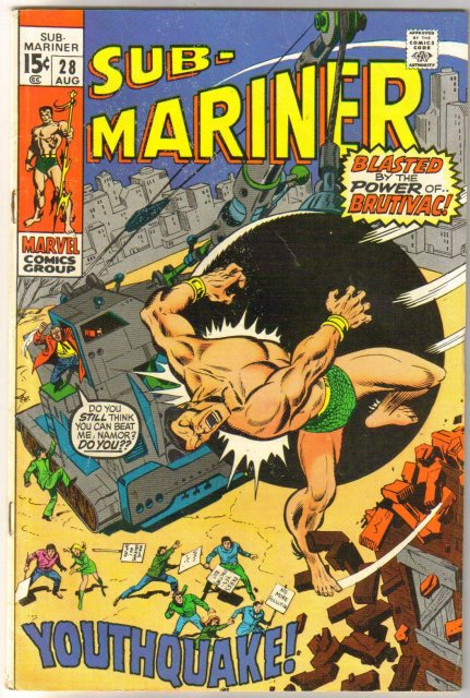 Prince Namor, the Sub-Mariner #28 comic book very good/fine 5.0