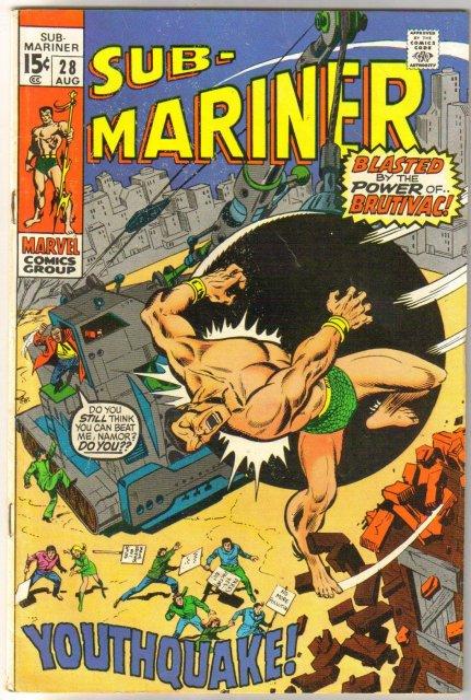 Prince Namor, the Sub-Mariner #28 comic book very good/fine 5.0