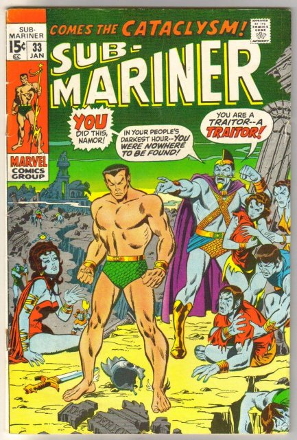 Prince Namor, the Sub-Mariner #33 comic book very good/fine 5.0