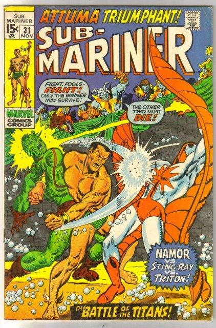 Prince Namor, the Sub-Mariner #31 comic book fine 6.0