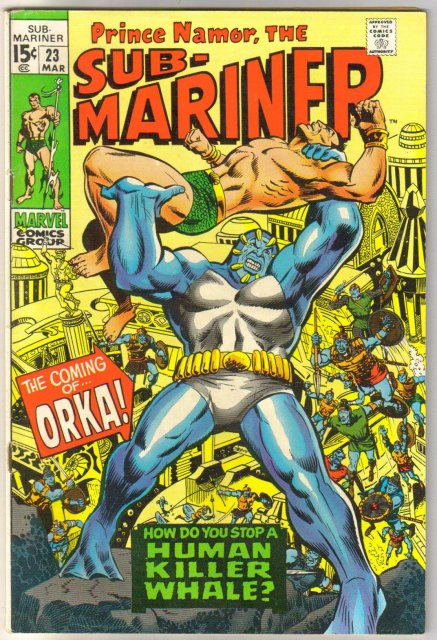 Prince Namor, the Sub-Mariner #23 comic book fine/very fine 7.0