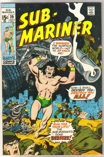 The Sub-Mariner (silver age series) #39 comic book very good/fine 5.0