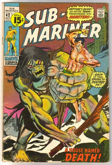 The Sub-Mariner (silver age series) #42 comic book very good/fine 5.0