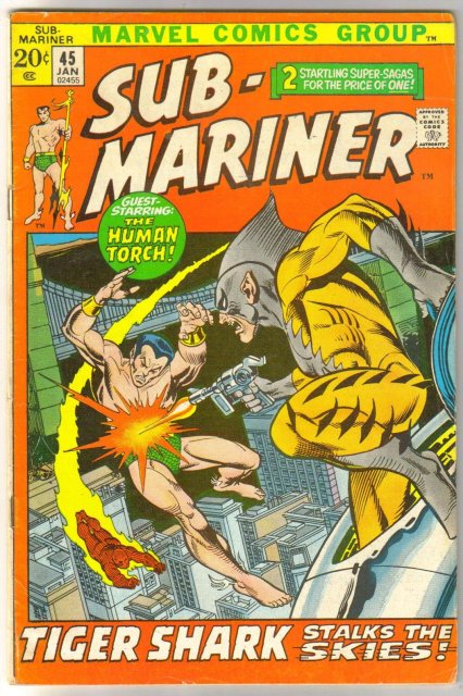 The Sub-Mariner (silver age series) #45 comic book very good/fine 5.0