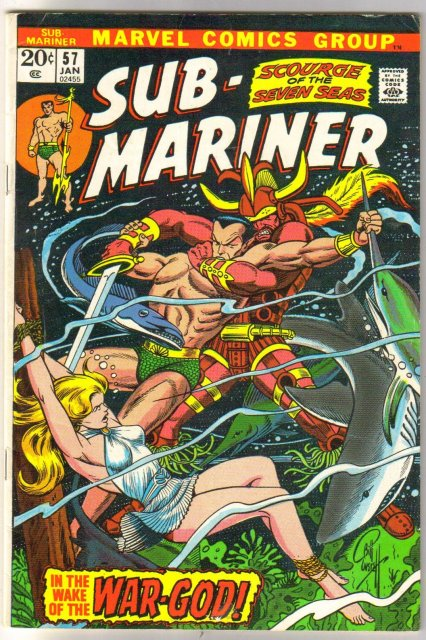The Sub-Mariner (silver age series) #57 comic book very good/fine 5.0