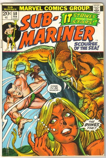 The Sub-Mariner (silver age series) #58 comic book very good/fine 5.0