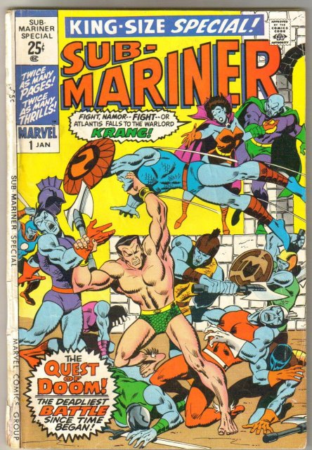 The Sub-Mariner Special  (silver age series) #1 comic book very good plus 4.5