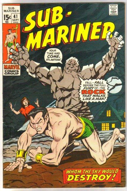 The Sub-Mariner  (silver age series) #41 comic book fine 6.0