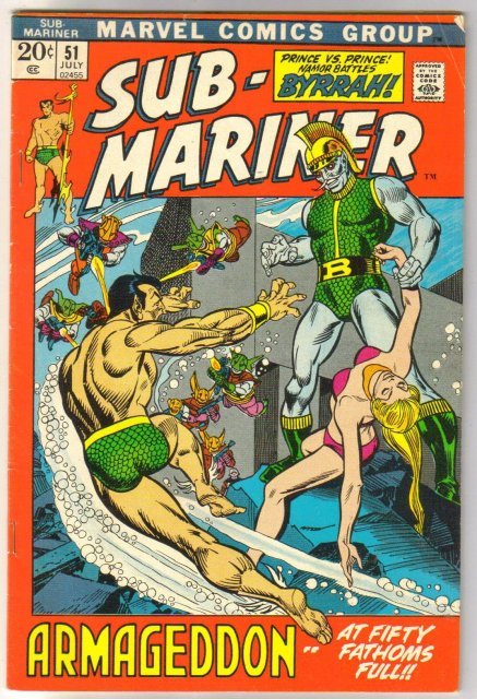 The Sub-Mariner  (silver age series) #51 comic book fine 6.0
