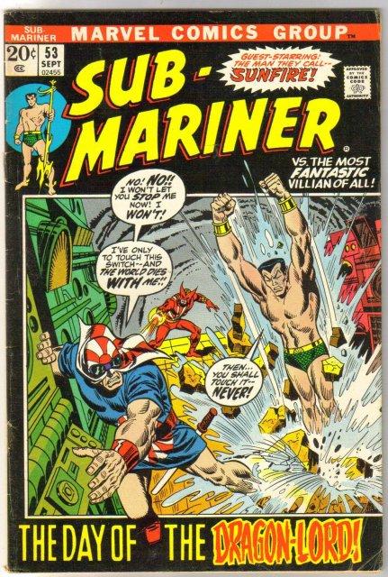 The Sub-Mariner  (silver age series) #53 comic book fine/very fine 7.0