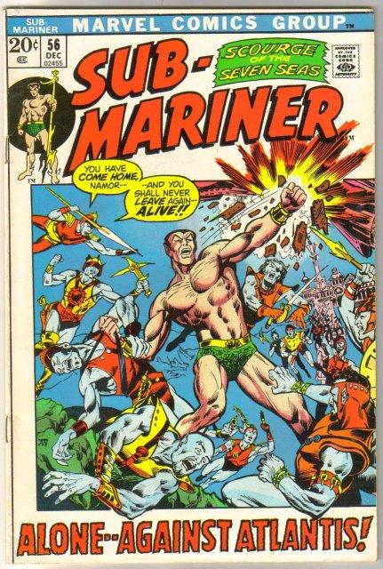 The Sub-Mariner  (silver age series) #56 comic book fine/very fine 7.0