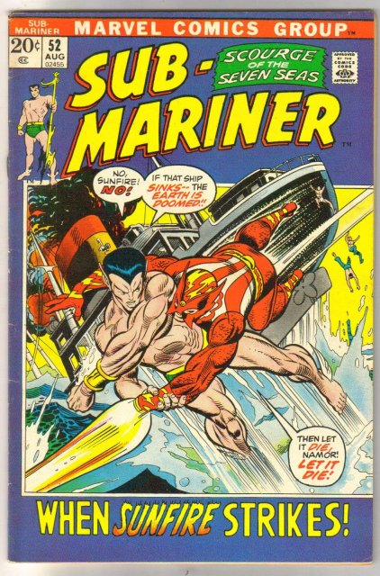 The Sub-Mariner  (silver age series) #52 comic book very fine 8.0
