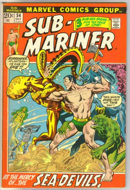 The Sub-Mariner  (silver age series) #54 comic book very fine 8.0