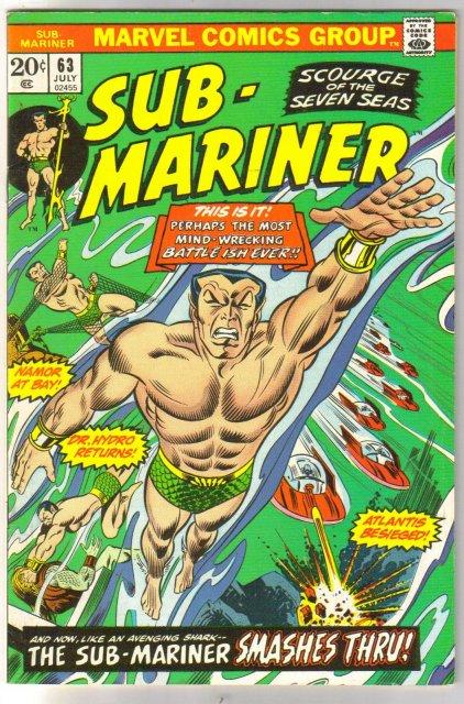 The Sub-Mariner  (silver age series) #63 comic book very fine plus 8.5