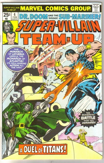 Super-Villain Team-Up #4 featuring Dr. Doom and Sub-Mariner comic book very fine/near mint 9.0